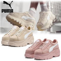 PUMA SUEDE Suede Street Style Plain Low-Top Sneakers