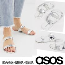 ASOS Open Toe Casual Style Plain Footbed Sandals Flat Sandals