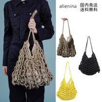 alienia Casual Style Plain Handmade Shoulder Bags