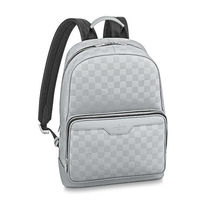 Louis Vuitton DAMIER INFINI Street Style Leather Backpacks