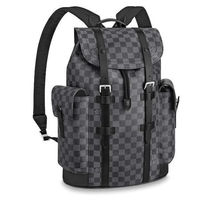 Louis Vuitton DAMIER GRAPHITE Street Style Leather Backpacks