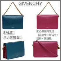 GIVENCHY CROSS3 Leather Elegant Style Shoulder Bags