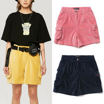 A PIECE OF CAKE Short Casual Style Unisex Corduroy Street Style Plain Shorts