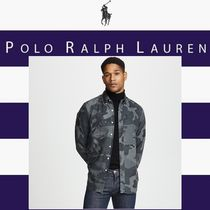 POLO RALPH LAUREN Button-down Camouflage Long Sleeves Cotton Shirts