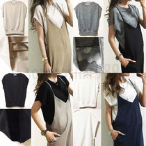 Short Sleeveless V-Neck Plain Tanks & Camisoles