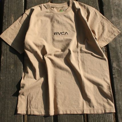 RVCA More T-Shirts Unisex Plain Cotton Short Sleeves T-Shirts 2