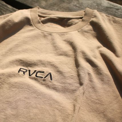 RVCA More T-Shirts Unisex Plain Cotton Short Sleeves T-Shirts 3