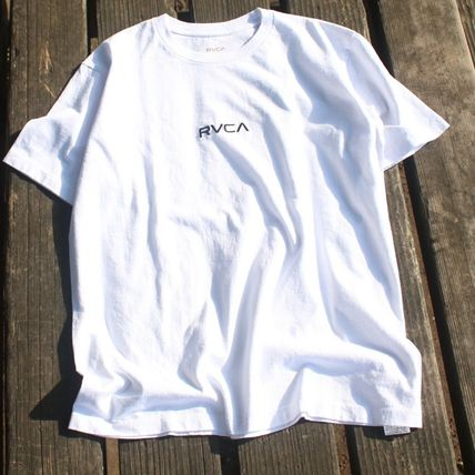 RVCA More T-Shirts Unisex Plain Cotton Short Sleeves T-Shirts 4