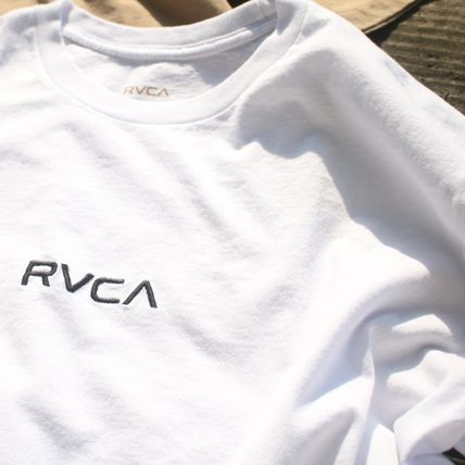 RVCA More T-Shirts Unisex Plain Cotton Short Sleeves T-Shirts 5