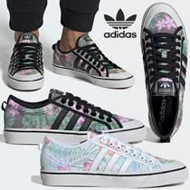 adidas Flower Patterns Rubber Sole Lace-up Casual Style Unisex