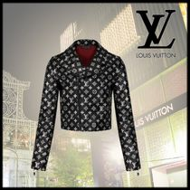 Louis Vuitton Short Monogram Leather Elegant Style Jackets