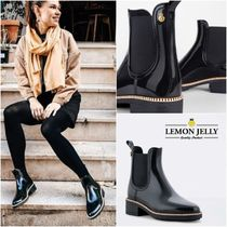 LEMON JERRY Platform Plain Toe Blended Fabrics Plain PVC Clothing