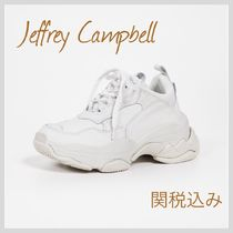 Jeffrey Campbell Round Toe Rubber Sole Lace-up Casual Style Street Style