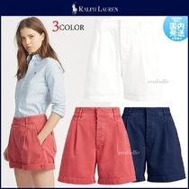 Ralph Lauren Short Casual Style Plain Cotton Denim & Cotton Shorts