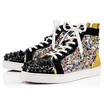 Christian Louboutin LOUIS Studded Leather Handmade Sneakers