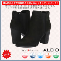 ALDO Round Toe Casual Style Plain Chunky Heels High Heel Boots
