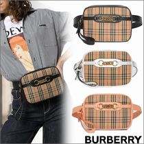 Burberry Other Check Patterns Canvas 2WAY Shoulder Bags