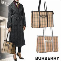 Burberry Other Check Patterns Canvas Totes