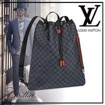 Louis Vuitton DAMIER COBALT Unisex Canvas Street Style A4 Backpacks