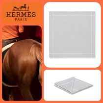 HERMES Plain Cotton Handkerchief