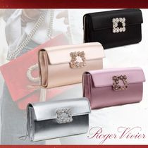 Roger Vivier Blended Fabrics 2WAY Chain Plain Leather Party Style