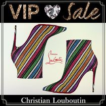 Christian Louboutin Suede Blended Fabrics Pin Heels Elegant Style