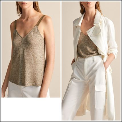 Linen Sleeveless Medium Tanks & Camisoles