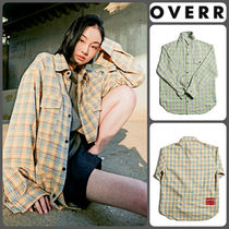OVERR Other Check Patterns Casual Style Unisex Cotton Medium