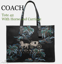 Coach Tropical Patterns Unisex Canvas A4 Totes