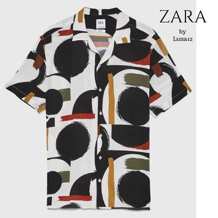 ZARA Shirts Street Style Short Sleeves Shirts