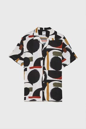 ZARA Shirts Street Style Short Sleeves Shirts 2