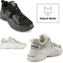 Naked Wolfe Unisex Plain Leather Sneakers