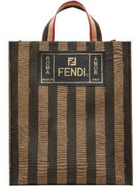 FENDI PEQUIN Leather Totes
