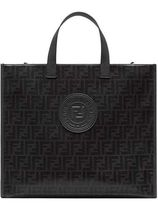 FENDI PEQUIN A4 Leather Totes