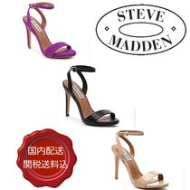 Steve Madden Open Toe Faux Fur Plain Pin Heels Party Style Heeled Sandals