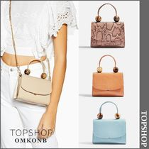 TOPSHOP Casual Style Faux Fur Other Animal Patterns Python Handbags