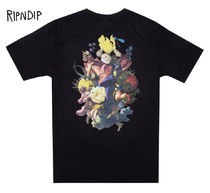 RIPNDIP Flower Patterns Street Style Short Sleeves T-Shirts