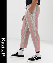 ASOS Printed Pants Stripes Linen Street Style Patterned Pants