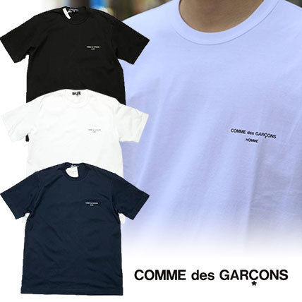 COMME des GARCONS More T-Shirts Unisex Street Style U-Neck Plain Cotton Short Sleeves