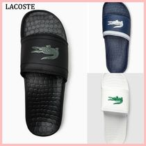 LACOSTE Unisex Plain Shower Shoes Shower Sandals
