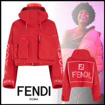 FENDI Short Casual Style Street Style Plain Jackets