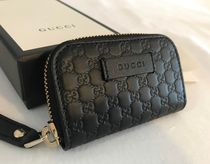 GUCCI Plain Leather Coin Cases