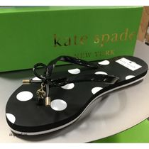 kate spade new york Dots Round Toe Casual Style Flip Flops Flat Sandals