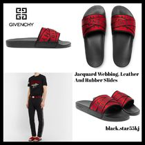 GIVENCHY Stripes Blended Fabrics Street Style Shower Shoes