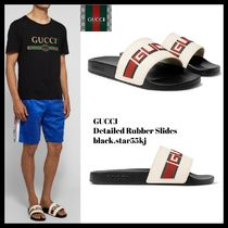 GUCCI Stripes Blended Fabrics Street Style Shower Shoes