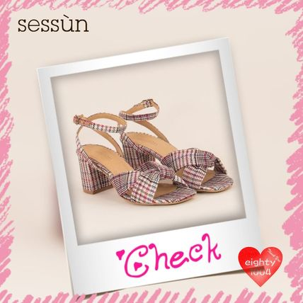 Other Check Patterns Casual Style Sandals