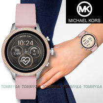 Michael Kors RUNWAY Casual Style Blended Fabrics Silicon Round With Jewels