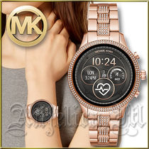Michael Kors RUNWAY Casual Style Unisex Round Stainless With Jewels