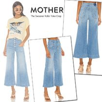 MOTHER Street Style Plain Cotton Long Wide & Flared Jeans
