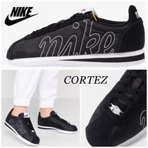 Nike CORTEZ Round Toe Rubber Sole Lace-up Casual Style Street Style